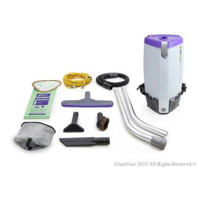 NEW More Powerful Proteam Super Coach Pro 10 Qt. Backpack Vacuum Cleaner