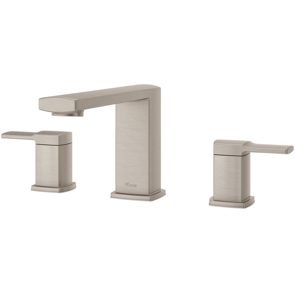 Pfister Deckard 2-Handle Deck-Mount Roman Tub Faucet Trim Kit in Brushed Nickel