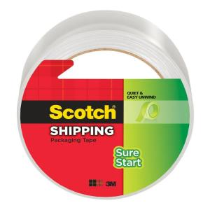 3M Scotch 1.88 inch x 54.6 yds. Sure Start Shipping Packaging Tape (Case of 16) by 3M