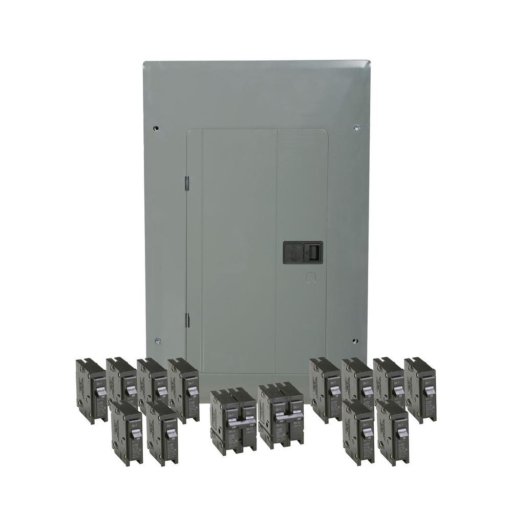 Eaton BR 100 Amp 20 Space 20 Circuit Indoor Main Breaker Loadcenter ...