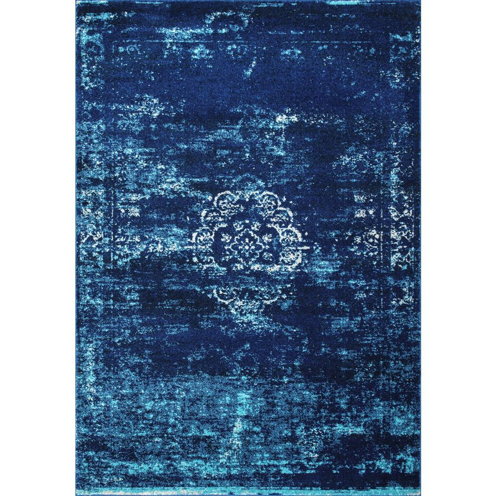 NuLOOM Vintage Inspired Overdyed Turquoise 4 Ft. X 6 Ft