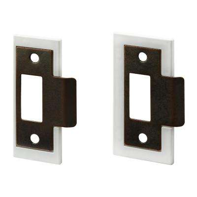 1-3/8 in. and 1-3/4 in. Bronze Plated Fix-A-Latch Strike Plate Repair Kit
