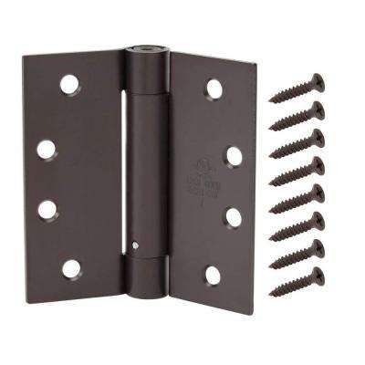 4-1/2 in. Oil-Rubbed Bronze Adjustable Spring Door Hinge