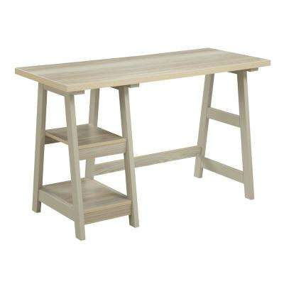 Designs2Go Weathered White Trestle Desk