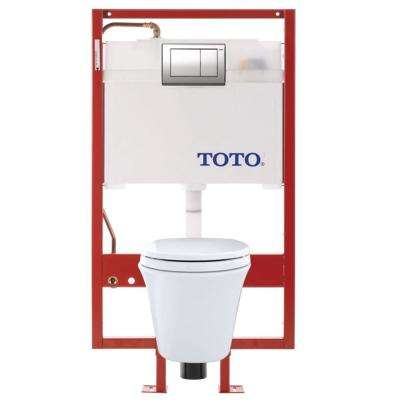 Maris DUOFIT 2-Piece 1.6; 0.9 GPF Dual Flush Elongated Wall Mounted Toilet in Cotton White