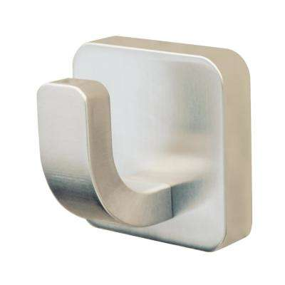 Kubos Single Robe Hook in Brushed Nickel