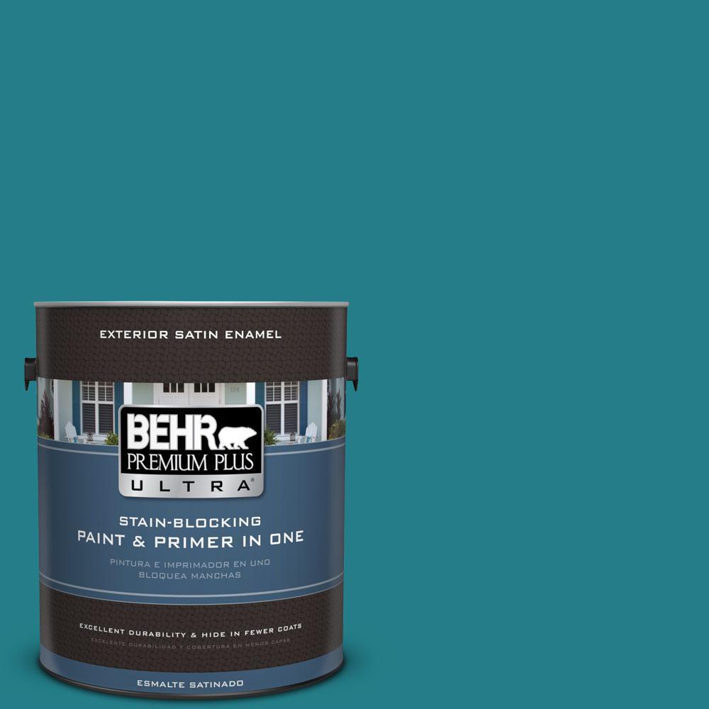 BEHR Premium Plus Ultra 1-Gal. #PPU13-1 Caribe Satin Enamel Exterior Paint