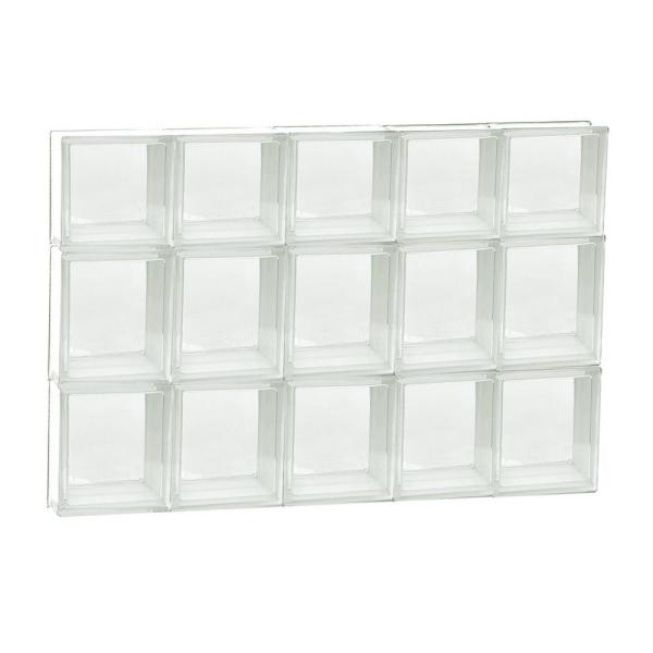 28.75 in. x 21.25 in. x 3.125 in. Frameless Non-Vented Clear Glass Block Window