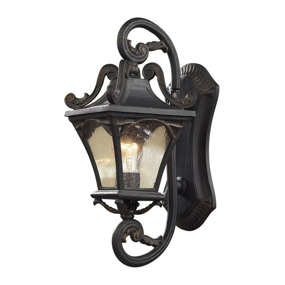 Titan Lighting Hamilton Park 2-Light Outdoor Weathered Charcoal Wall Sconce-DISCONTINUED