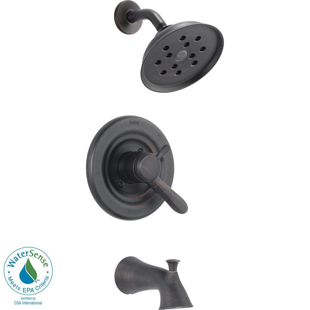 Delta Lahara 1 Handle H2Okinetic Tub And Shower Faucet