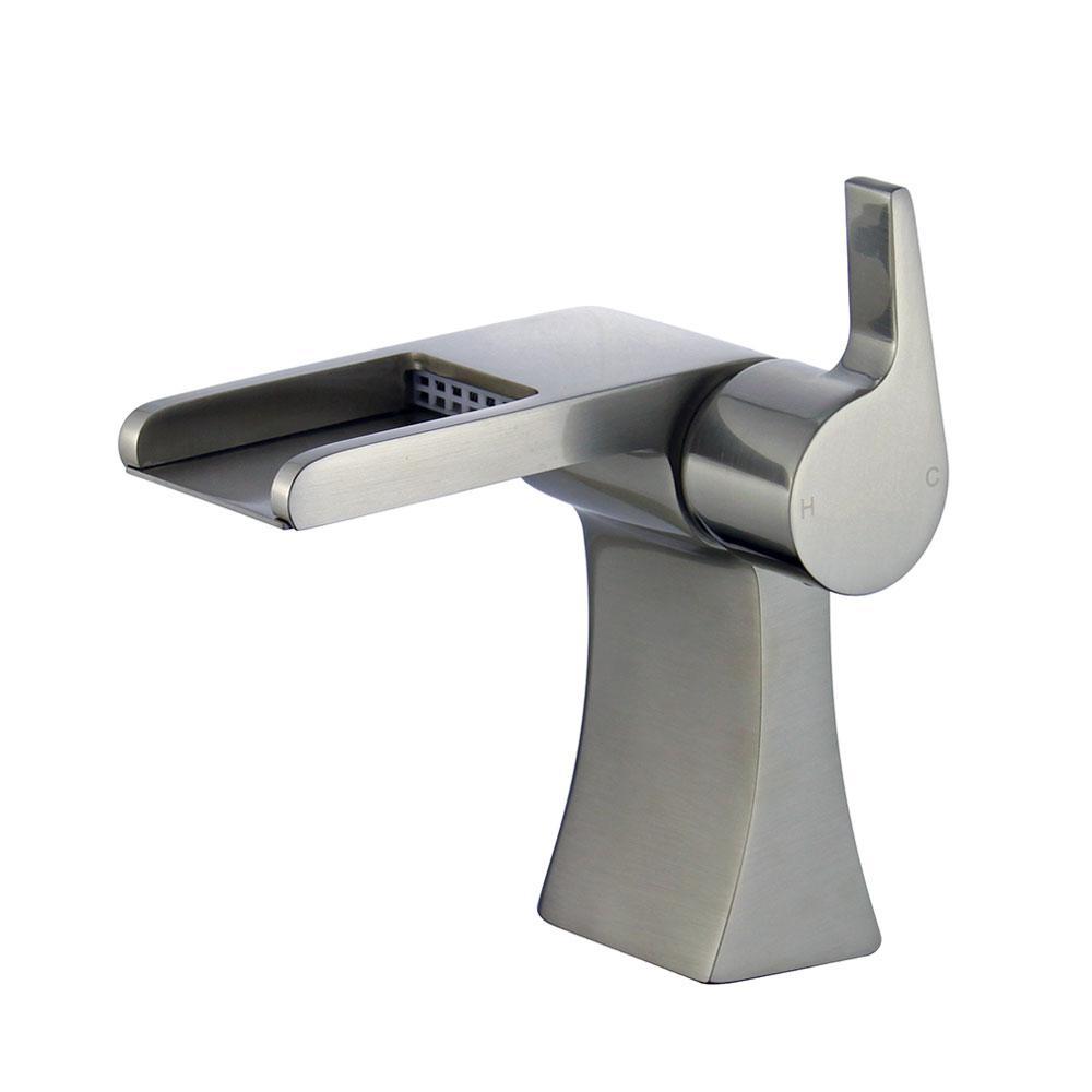 Salamanca Single Hole Single-Handle Bathroom Faucet with Overflow Drain in Brushed Nickel
