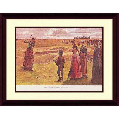 25.87.in x 21.87.in''Hazard on the Ladies Course'' By PTM Images Framed Printed Wall Art