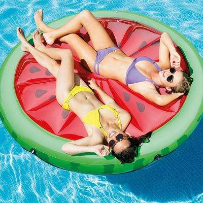 72 in. Watermelon Swimming Pool Floating Island