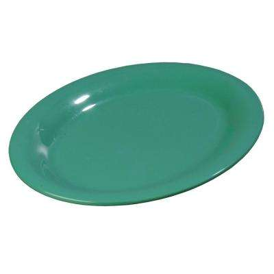 9.5 in. x 7.0 in. Melamine Oval Platter in Meadow Green (Case of 24)