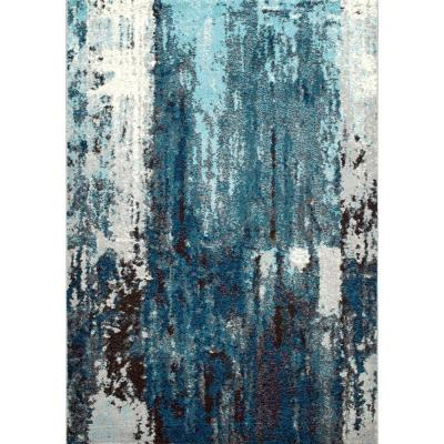 Haydee Abstract Blue 5 ft. x 8 ft. Area Rug