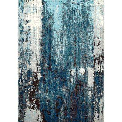 Haydee Abstract Blue 8 ft. x 10 ft. Area Rug