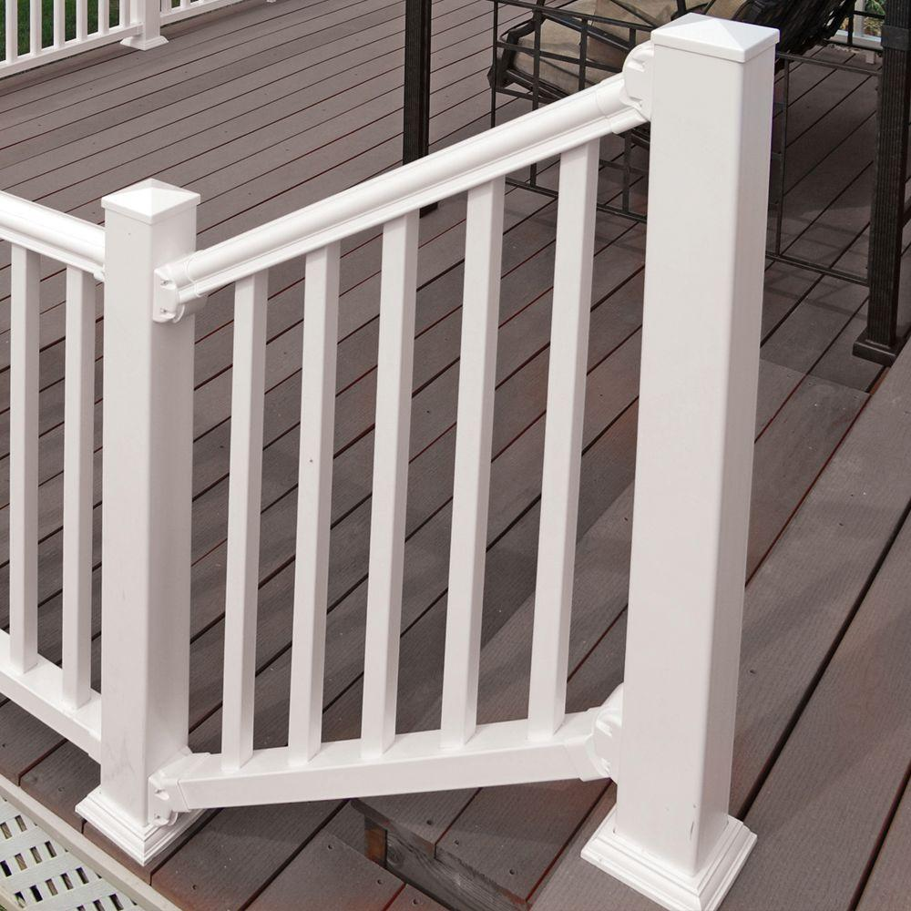 Veranda 6 ft x 36 in. White Traditional Stair Kit Diagonal ...