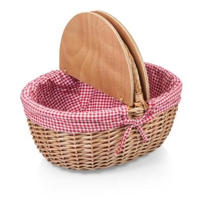 Country Red 15 qt. Picnic Basket