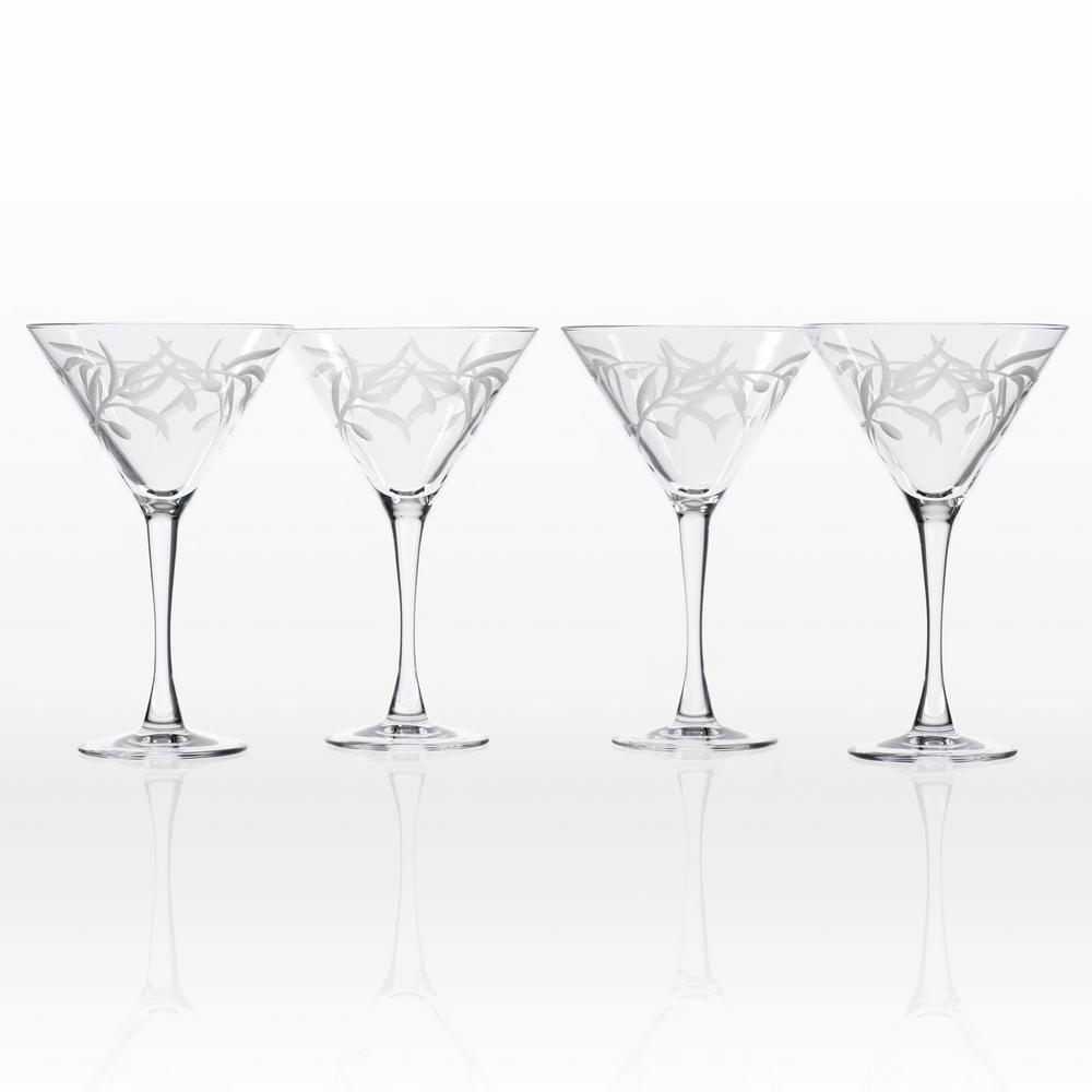 Silver 8 oz Artland Zebra martini Glass Set of 4