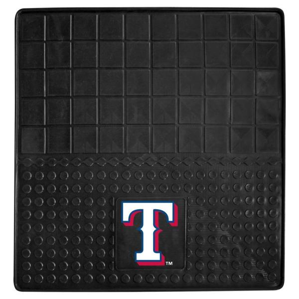 MLB Texas Rangers Heavy Duty Vinyl 31 in. x 31 in. Cargo Mat