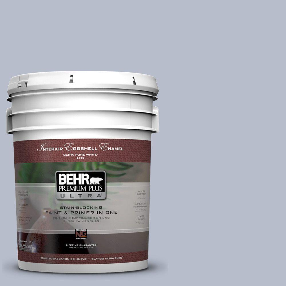 5 gal. #610F-4 Silver Service Eggshell Enamel Interior Paint and Primer