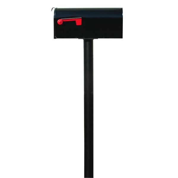 Hanford Single Post System Mailbox with E1 Economy Mailbox