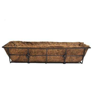 Antoinette 24 in. Steel Deck Rail Planter