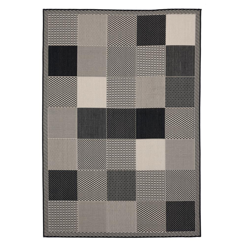 United Weavers Augusta Grand Anse Black 7 ft. 10 in. x 10 ft. 6 in. Indoor/Outdoor Area Rug