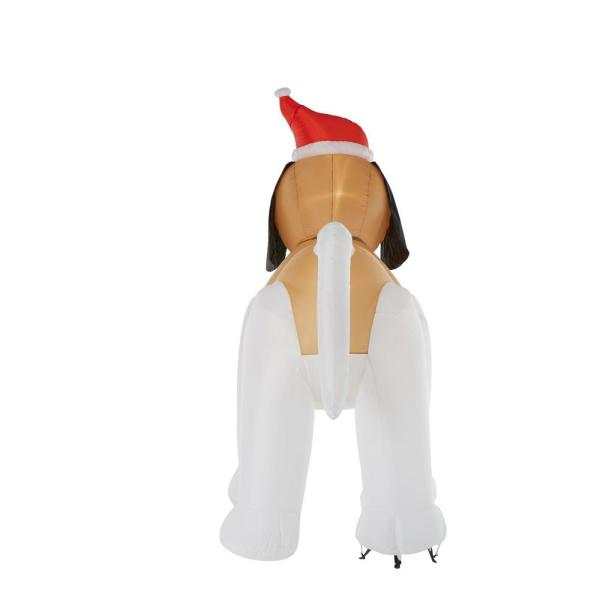 CHRISTMAS ST BERNARD DOG SANTA 7 FT AIRBLOWN INFLATABLE YARD DECORATION