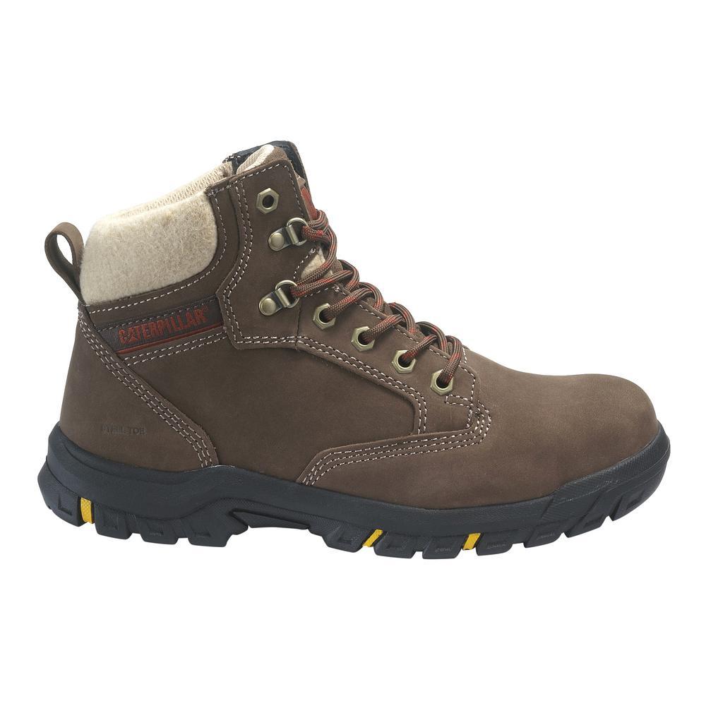 6d830ac14c6 CAT Footwear Women's Size 5 Chocolate Grain Leather Tees Steel Toe Work  Boots