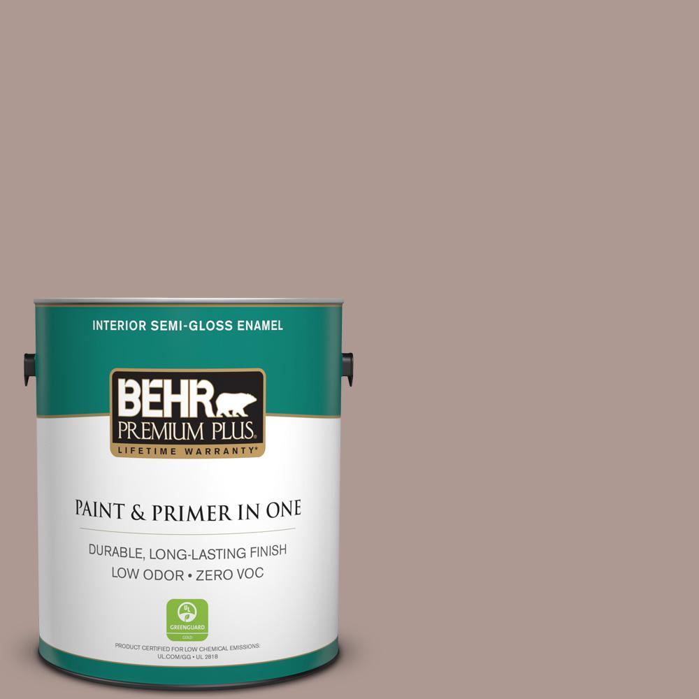 BEHR Premium Plus 1-gal. #ECC-61-1 Desert Dusk Zero VOC Semi-Gloss Enamel Interior Paint