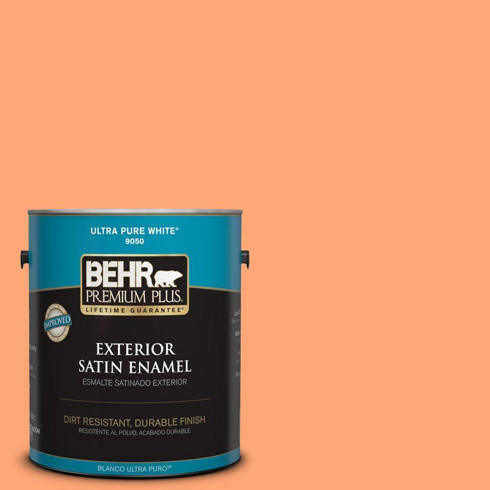 1-gal. #240B-4 Marmalade Satin Enamel Exterior Paint