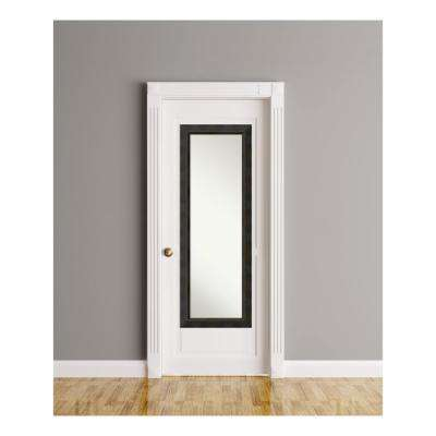 Signore Bronze Wood 19 in. W x 53 in. H On The Door Mirror