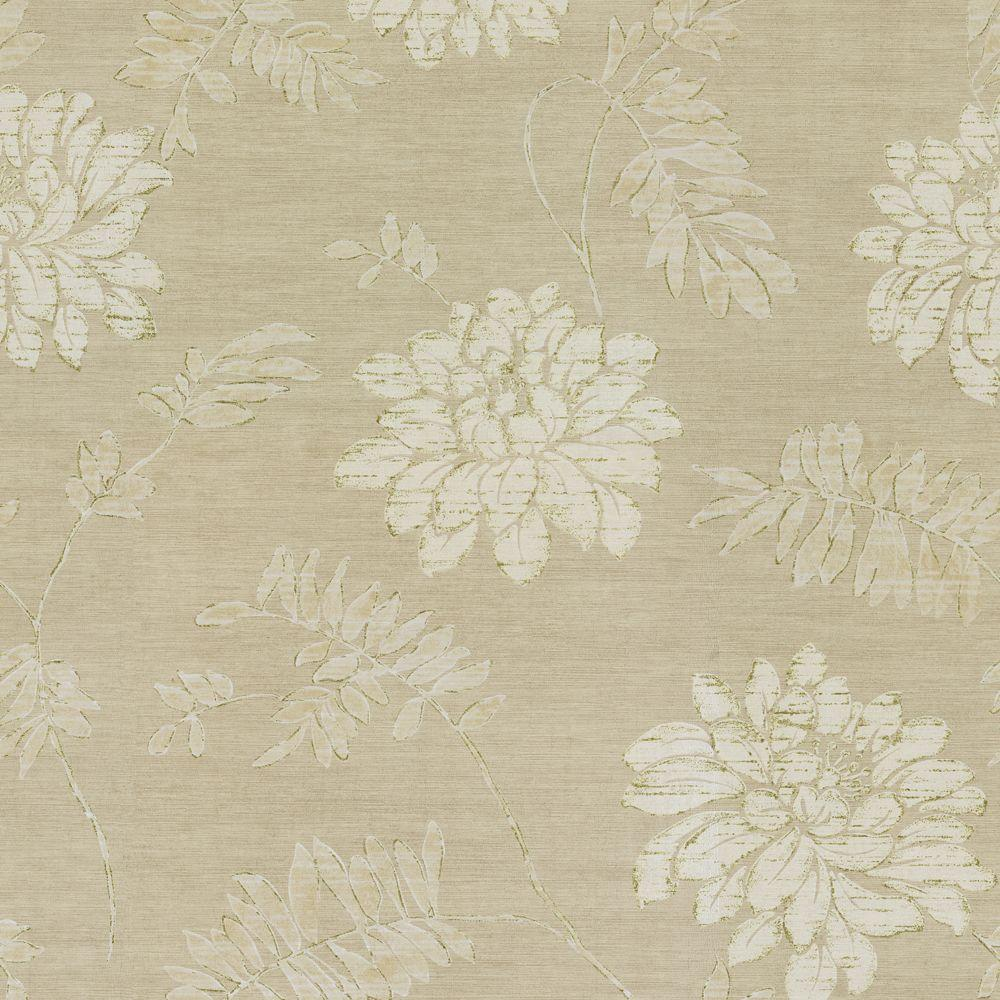 The Wallpaper Company 8 in. x 10 in. Florient Floral Wallpaper Sample