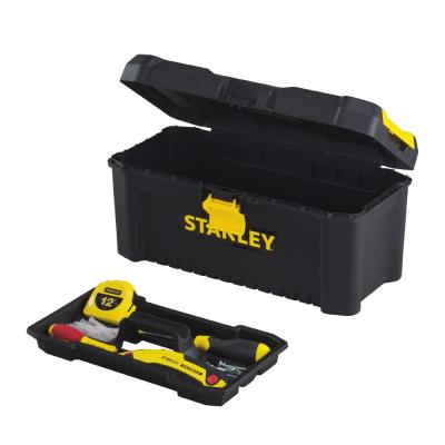 16 in. 2.1 Gallon Essential Tool Box with Lid Organizers