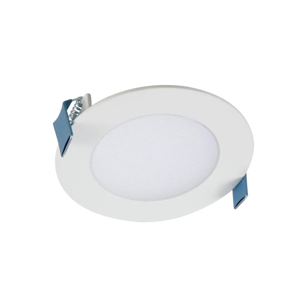 white round integrated led recessed light direct mount kit with selectable  cct (2700k-5000k), (no can needed)