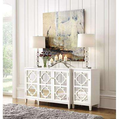 Reflections White Console Table