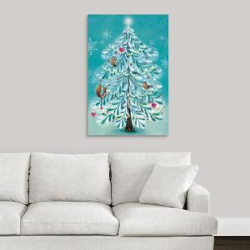 Wall Christmas Trees.Gleaming Christmas Tree By Mila Marquis Canvas Wall Art