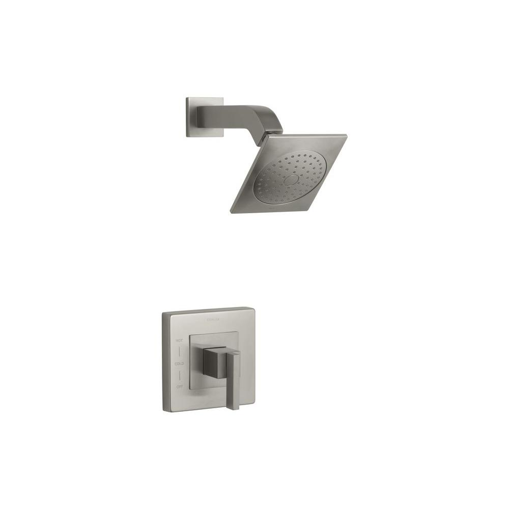 Loure 1-Handle Shower Faucet Trim Kit in Brushed Nickel (Valve Not