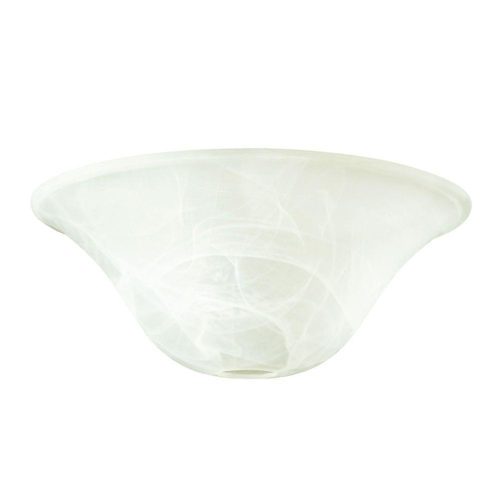 White Alabaster Torchiere Glass Shade