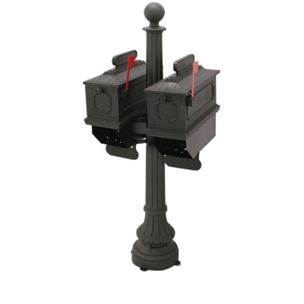 1812 Port Angeles 65 in. Plastic Mailbox with Post