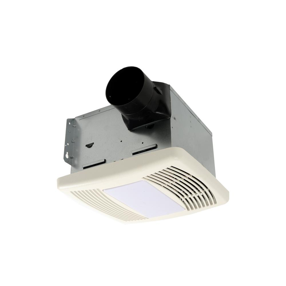 HushTone by Cyclone 80 CFM Ceiling Bathroom Exhaust Fan with Light and Night Light, ENERGY STAR