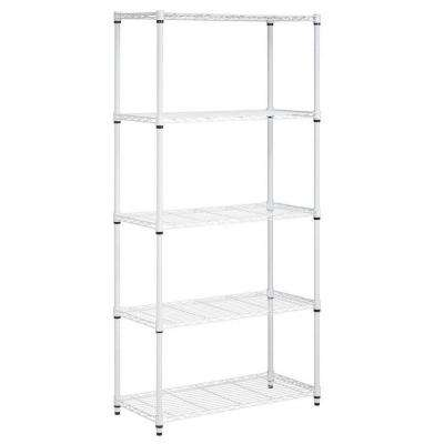 72 in. H x 36 in. W x 16 in. D 5-Shelf Steel Shelving Unit