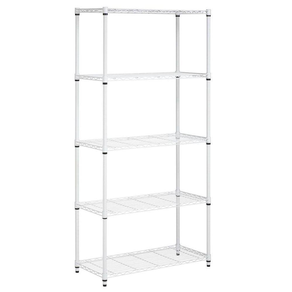 Honey-Can-Do 72 in. H x 36 in. W x 16 in. D 5-Shelf Steel Shelving Unit