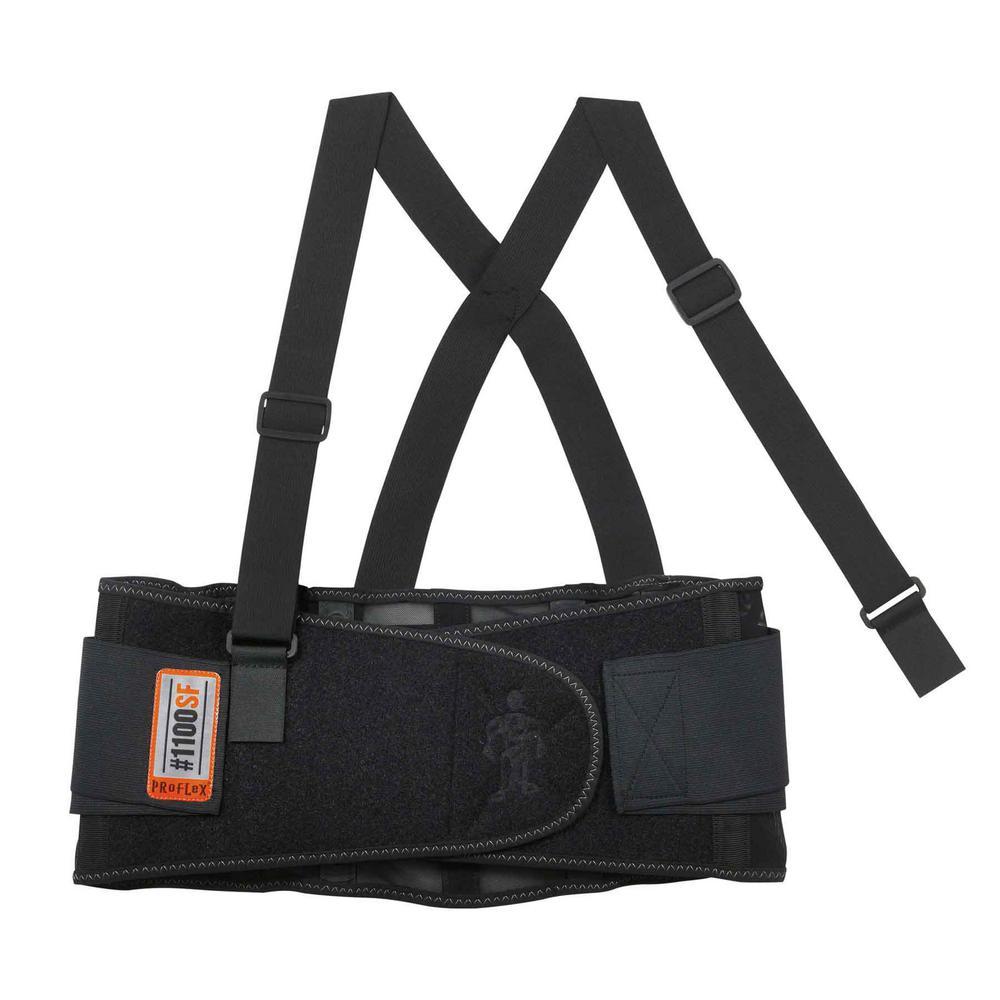 ProFlex Large Black Standard Spandex Back Support