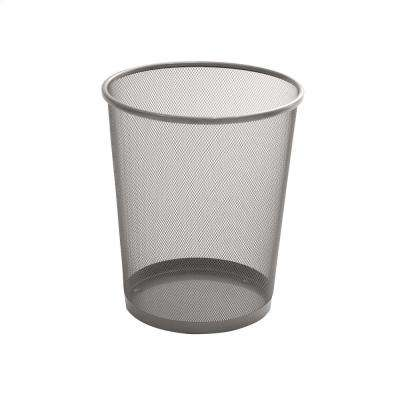 6 Gal. Silver Round Mesh Trash Can (3-Pack)