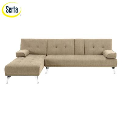 Lifestyle Solutions Milan 3 Seater Flip Sectional, Sand