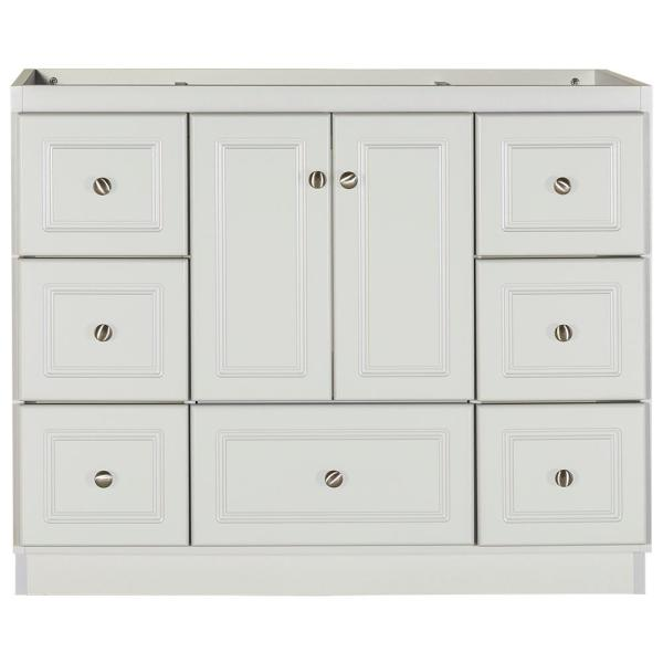 Ultraline 42 in. W x 21 in. D x 34.5 in. H Bath Vanity Cabinet Only with Center Basins in Dewy Morning