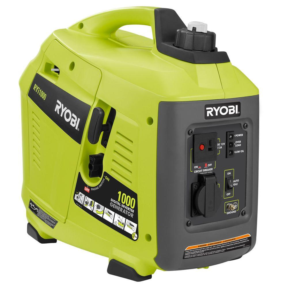 ryobi inverter generators ryi1000 64_1000 ryobi 1,000 watt gasoline powered digital inverter generator Ryobi Inverter Generator 3000 Watts at bakdesigns.co