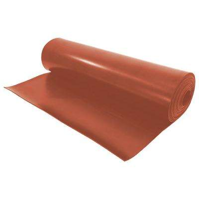 1/8 T x 12 in. W x 18 ft. Red Rubber Gasket Material Spool